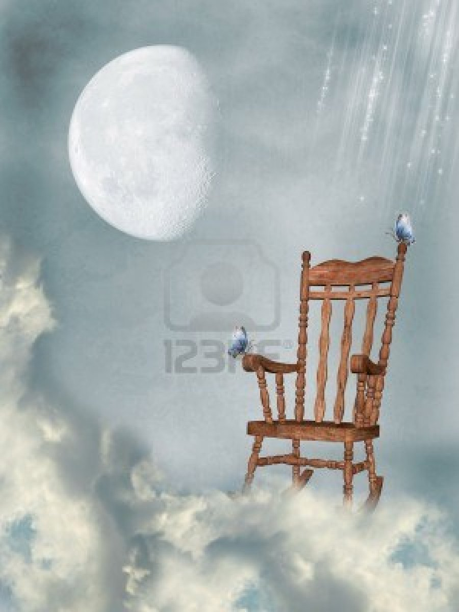 10914844-rocking-chair-in-the-sky-with-butterflies-and-moon-225x300