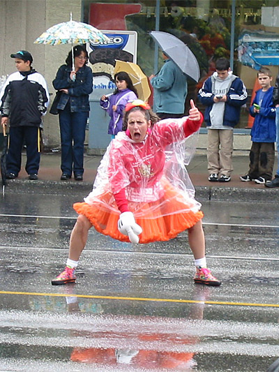 crazy-woman na rua