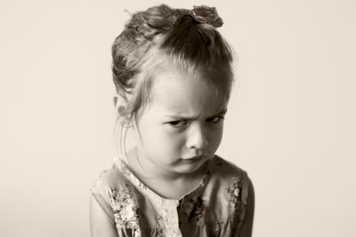 Criança chateada