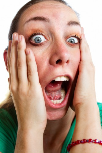 Screaming woman-time urgency