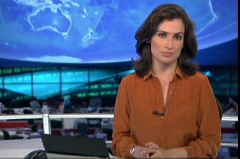 Renata no Jornal Nacional