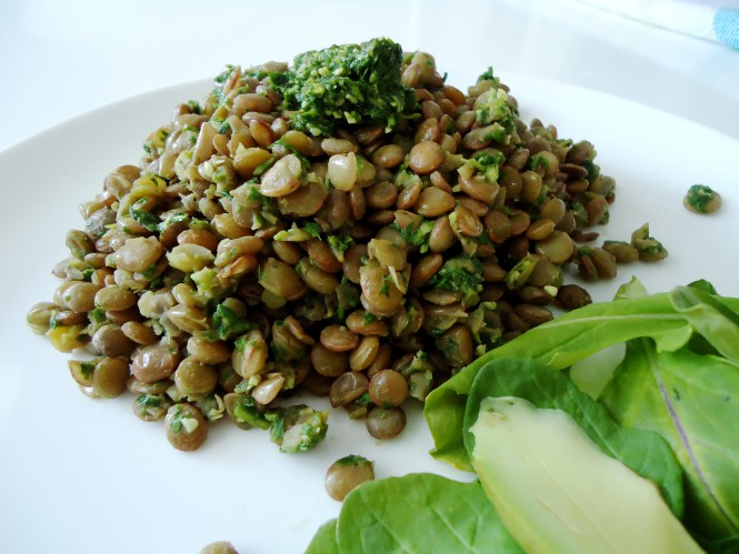 salada lentilha