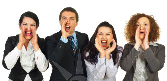 business-people-group-shouting