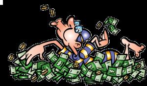 mar de dinheiro
