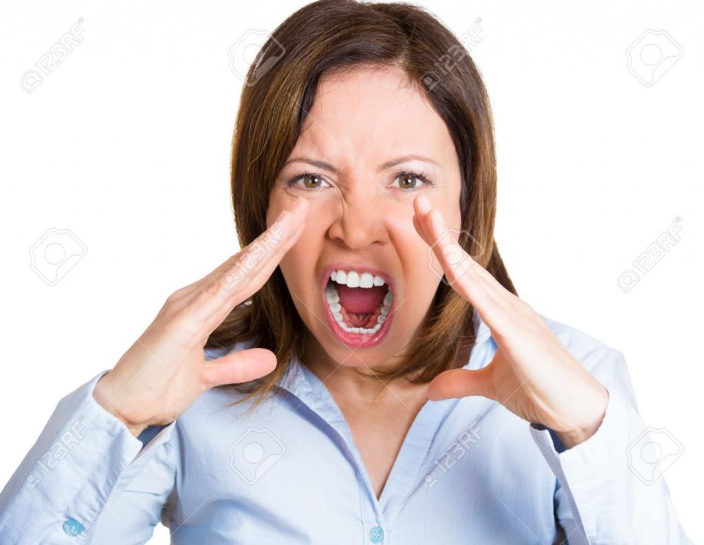 Angry shouting