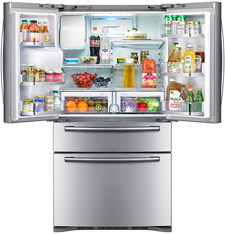 french-door-refrigerator-samsung-rf4287-open