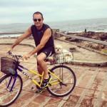 Papaqui em sua estreia de bike