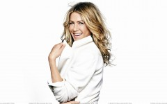 Laughing Side Pose In White Coat N White Background
