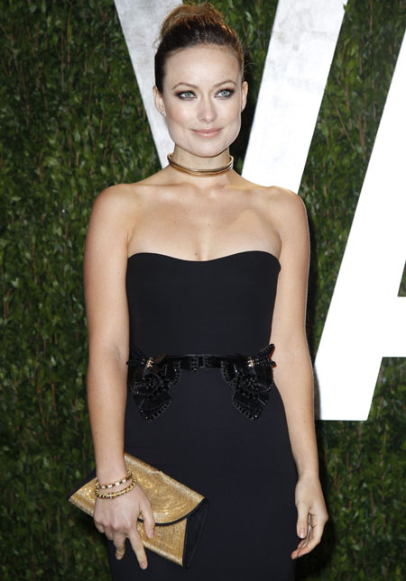 Actress Olivia Wilde arrives at the 2012 Vanity Fair Oscar party in West Hollywood