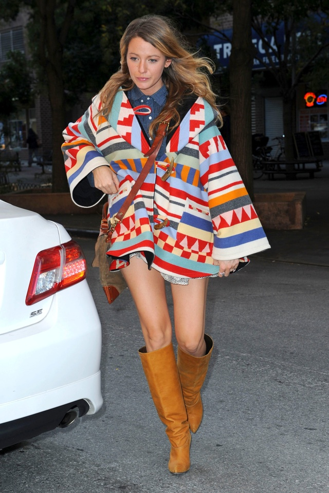 Blake Lively out and about, New York, America - 17 Oct 2014