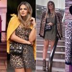 A blogueira Thassia Naves e as mil formas de variar o vestido animal print