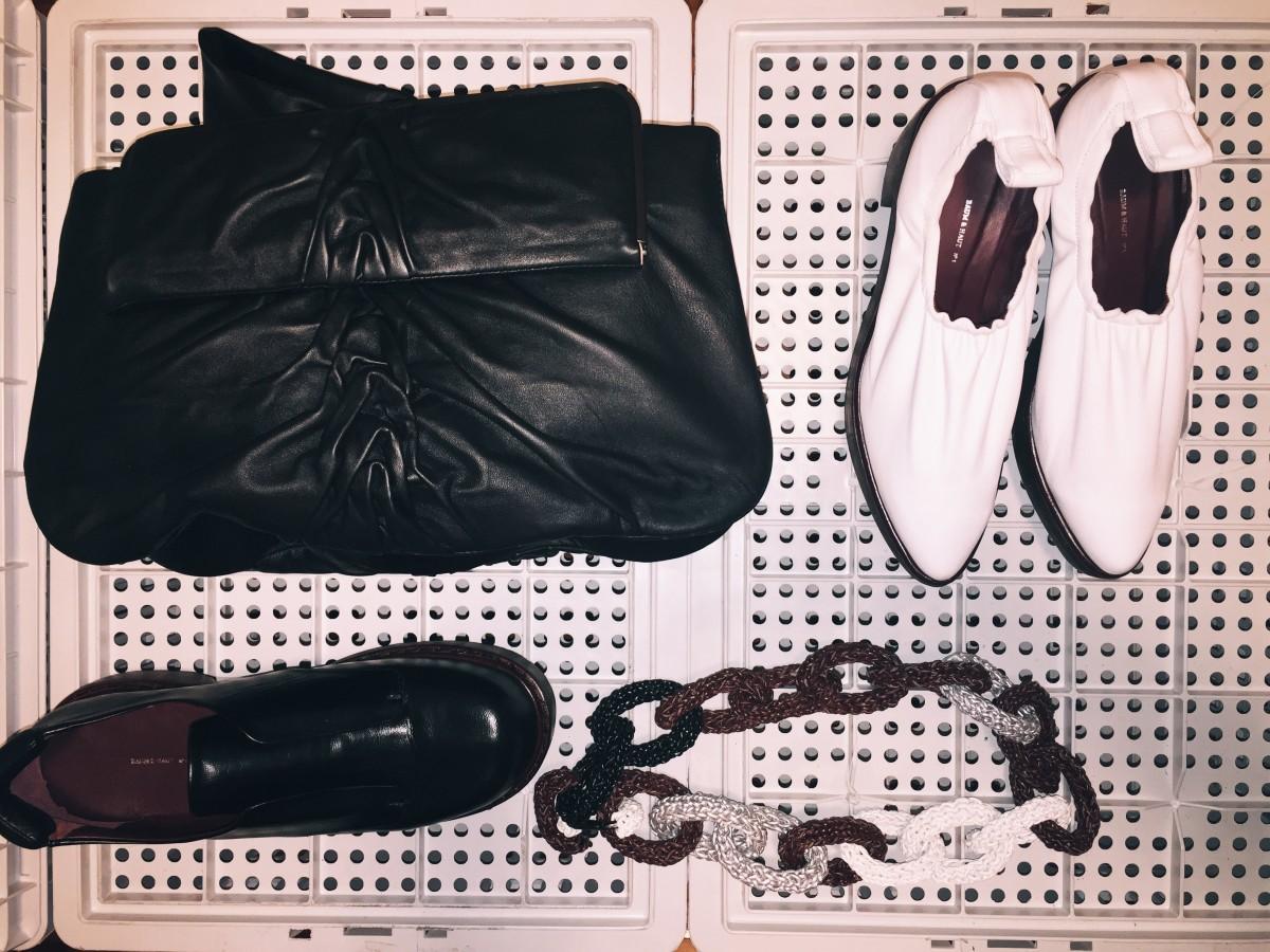 Bolsa, sapato e acessórios
