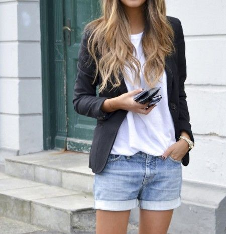 Low profile com blazer e jeans