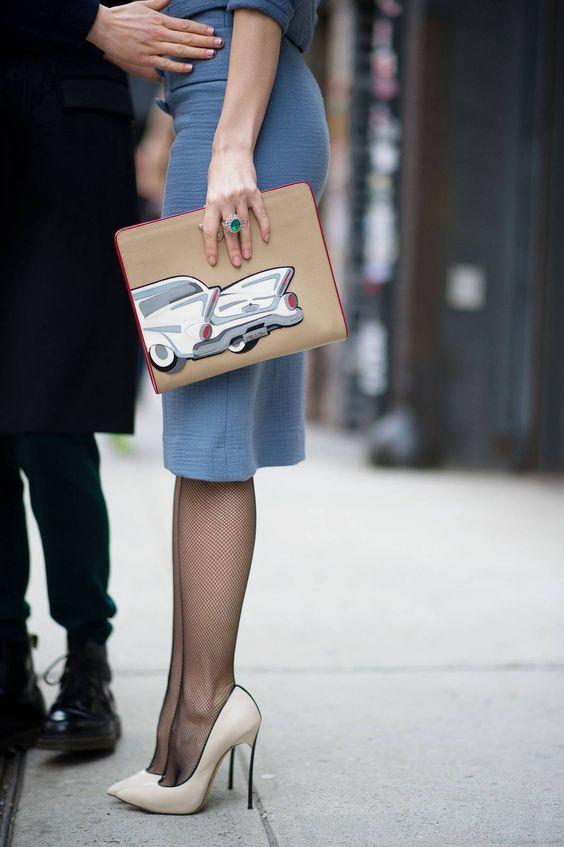 Meia calça e scarpin