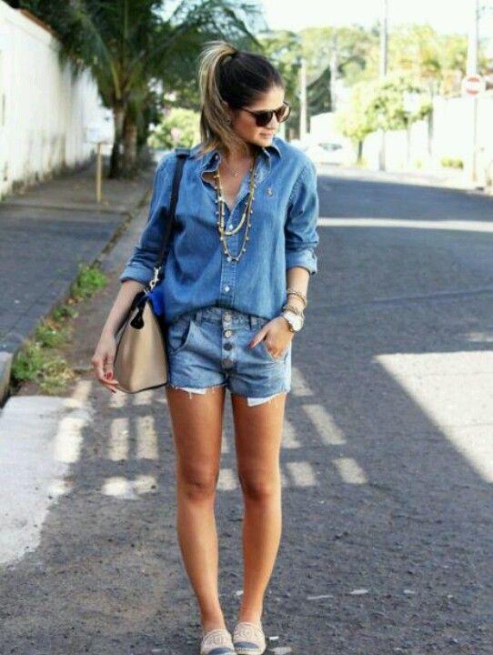 camisa + short jeans