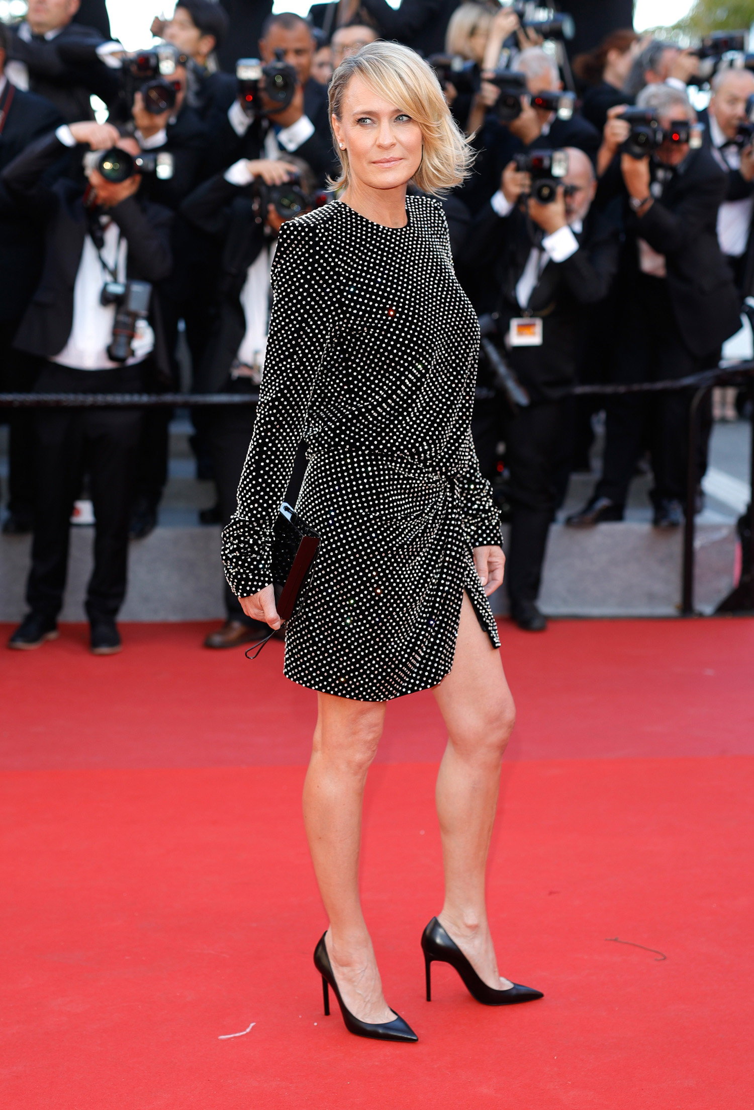 "CANNES, FRANCE - MAY 17: Robin Wright attends the ""Ismael's Ghosts (Les Fantomes d'Ismael)"" screening and Opening Gala during the 70th annual Cannes Film Festival at Palais des Festivals on May 17, 2017 in Cannes, France. (Photo by Andreas Rentz/Getty Images)"