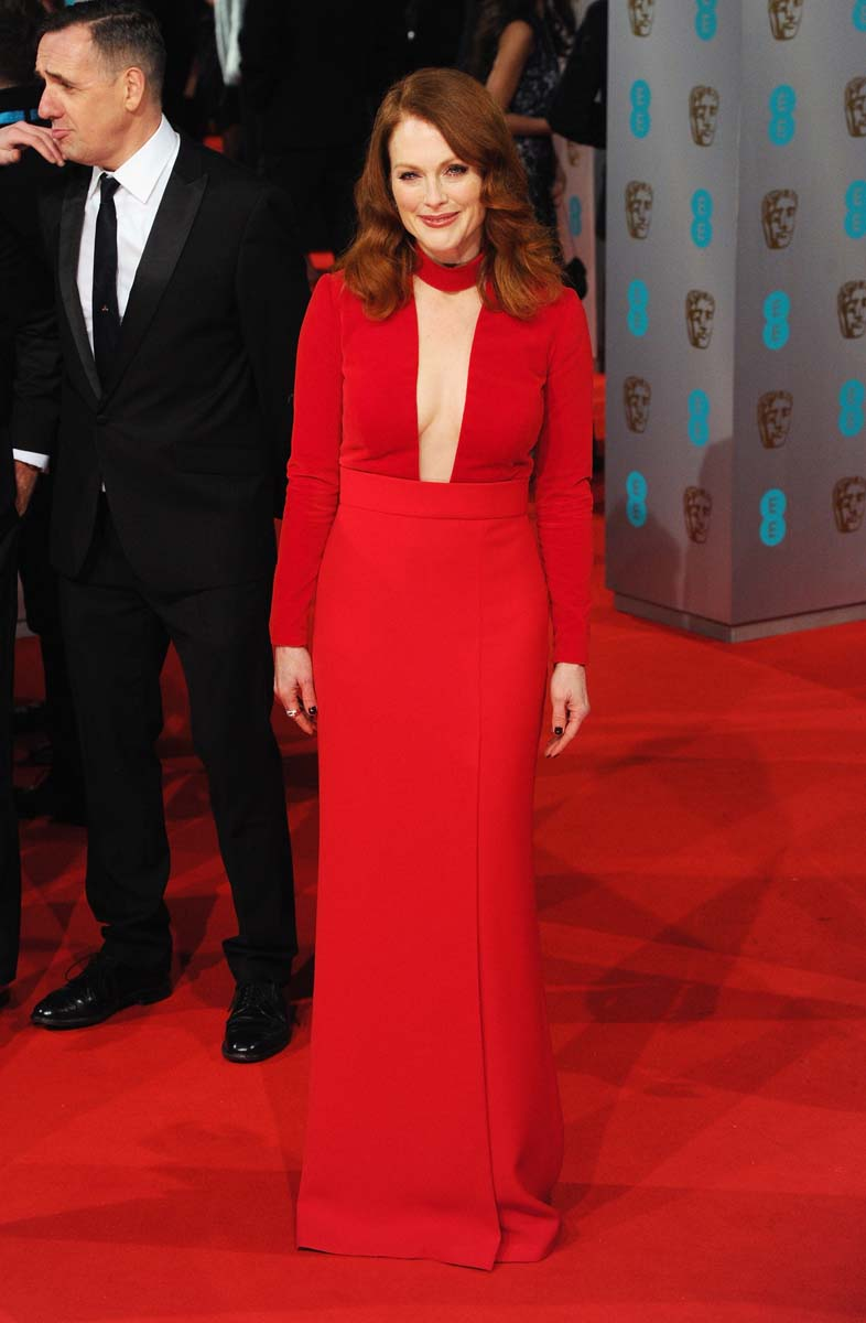 LONDON, ENGLAND - FEBRUARY 08: Julianne Moore attends the EE British Academy Film Awards at The Royal Opera House on February 8, 2015 in London, England. (Photo by Eamonn McCormack/WireImage)