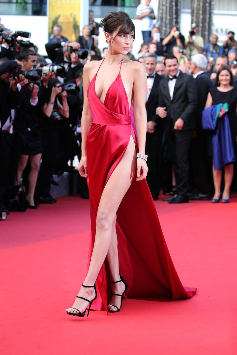 "CANNES, FRANCE - MAY 18: Bella Hadid sister of Gigi Hadid, attends ""The Unknown Girl (La Fille Inconnue)"" Premiere during the 69th annual Cannes Film Festival at the Palais des Festivals on May 18, 2016 in Cannes, France. (Photo by Gisela Schober/Getty Images)"