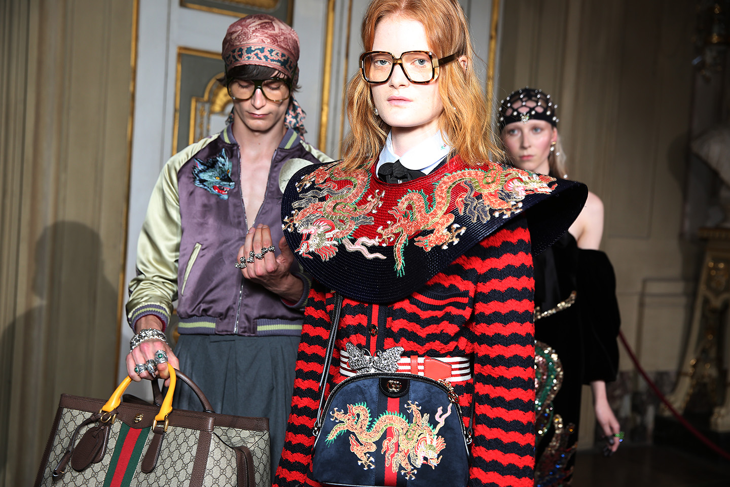Gucci Hosts Resort 2018 Show in Florence
