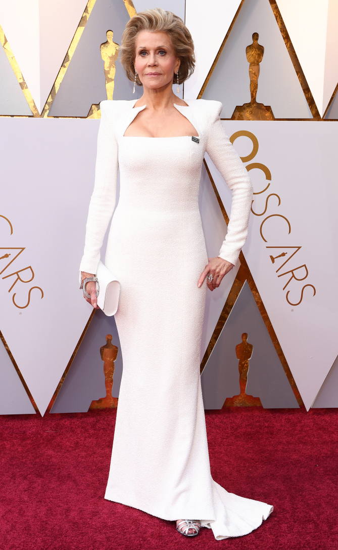 Mandatory Credit: Photo by David Fisher/Shutterstock (9446173cv) Jane Fonda 90th Annual Academy Awards, Arrivals, Los Angeles, USA - 04 Mar 2018