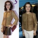 Alessandra Maestrini: mesma jaquetinha na festa e em coquetel