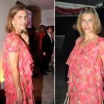 Maitê Proença em dois eventos com o mesmo vestido e cabelo diferente